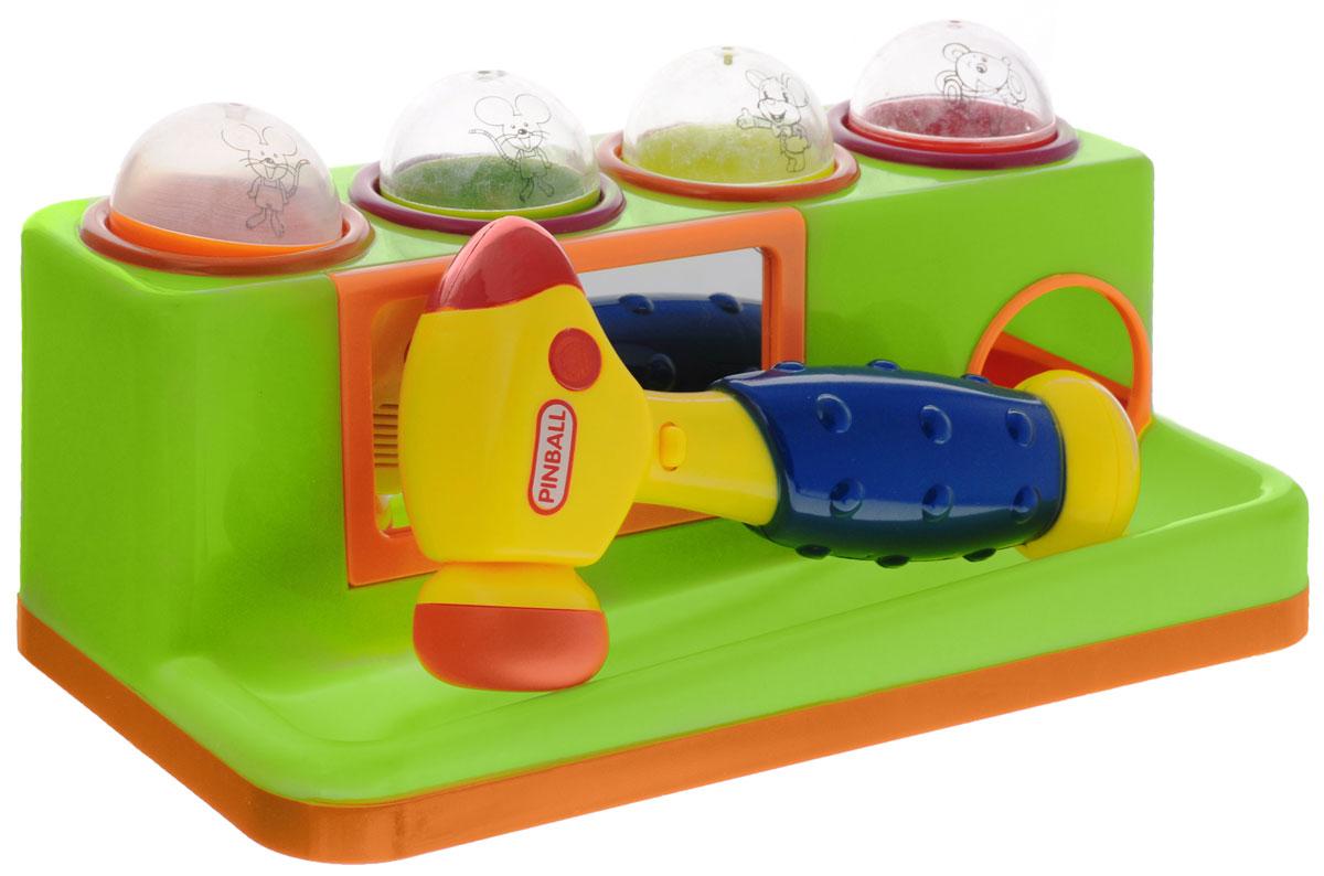 Junfa Toys Игрушка-сортер с молотком цвет зеленый