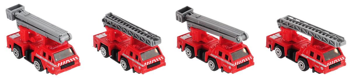 Zhorya Набор машинок Пожарная техника Х75140 наша игрушка набор машинок полицейская техника