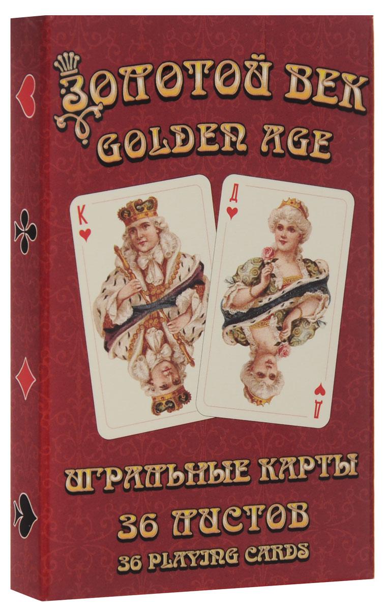 Игральные карты Piatnik Золотой век 9178_красный карты игральные профессиональные piatnik rosette 56 карт