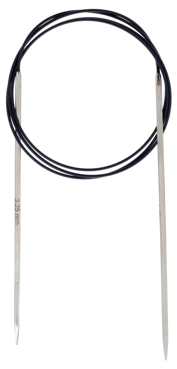 Спицы KnitPro Nova Cubics, круговые, никелированные, диаметр 3,25 мм, длина 100 см12214Круговые спицы KnitPro Nova Cubics изготовлены из никеля с инновационным латунным покрытием. Спицы квадратные с закругленными кончиками. Скреплены гибким пластиковым шнуром. Они прочные, легкие, удобны в использовании. Гладкая как шелк поверхность спиц позволит вам часами наслаждаться вязанием. Круговые спицы предназначены для выполнения деталей и изделий, не имеющих швов. Короткими круговыми спицами вяжут бейки горловины, воротники-гольф, длинными спицами можно вязать по кругу целые модели. Вы сможете вязать для себя, делать подарки друзьям. Рукоделие всегда считалось изысканным, благородным делом. Работа, сделанная своими руками, долго будет радовать вас и ваших близких. Рекомендуем!