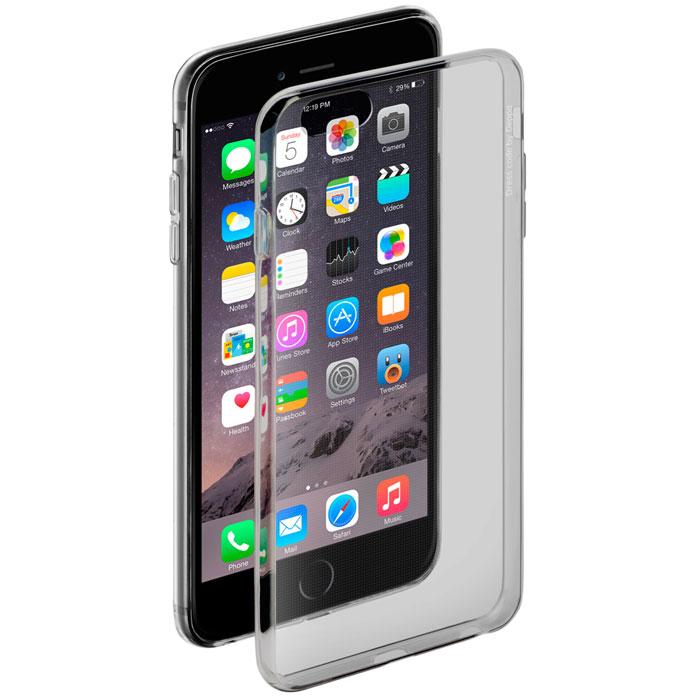 Чехол Gel Case для Apple iPhone 6/6S Plus, черный - прозрачный, Deppa