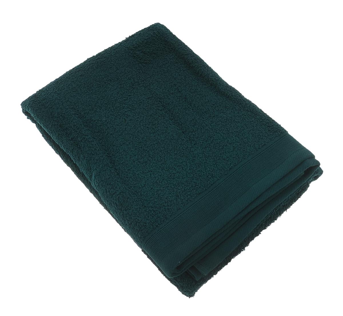 Полотенце махровое Guten Morgen, цвет: темно-зеленый, 70 х 140 см полотенце махровое guten morgen гладкокрашенное пммок 70 140 мокко 70 х 140 см