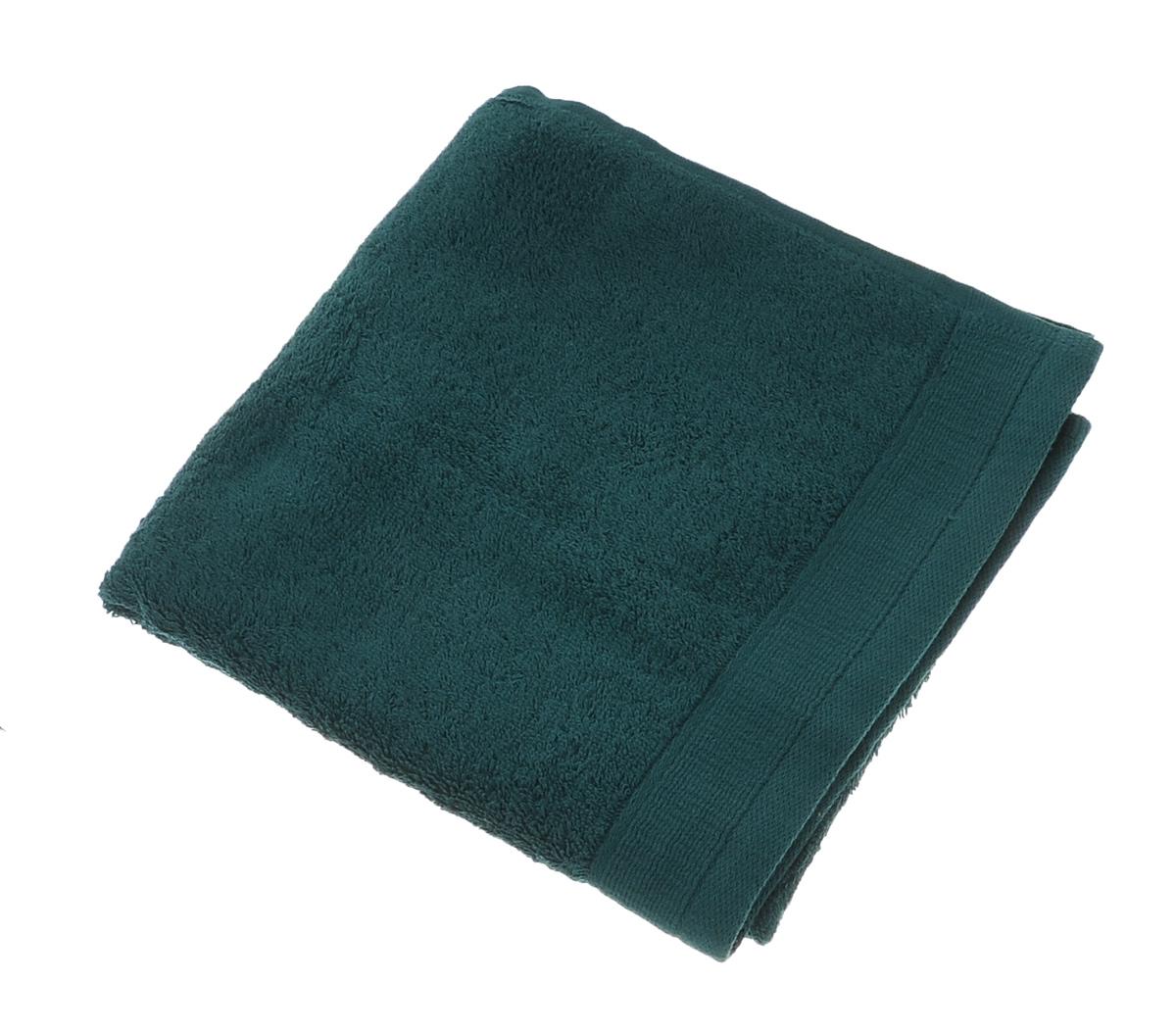 Полотенце махровое Guten Morgen, цвет: темно-зеленый, 50 см х 100 см полотенце махровое guten morgen цвет темно голубой 50 см х 100 см
