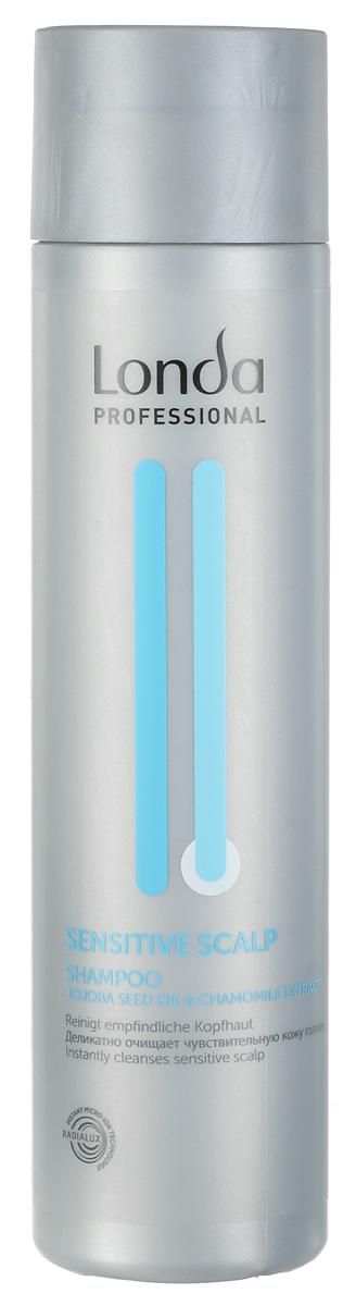 Шампунь Londa Professional Sensitive Scalp, для чувствительной кожи головы, 250 мл эмульсия alterna lengthening hair and scalp elixir 50 мл