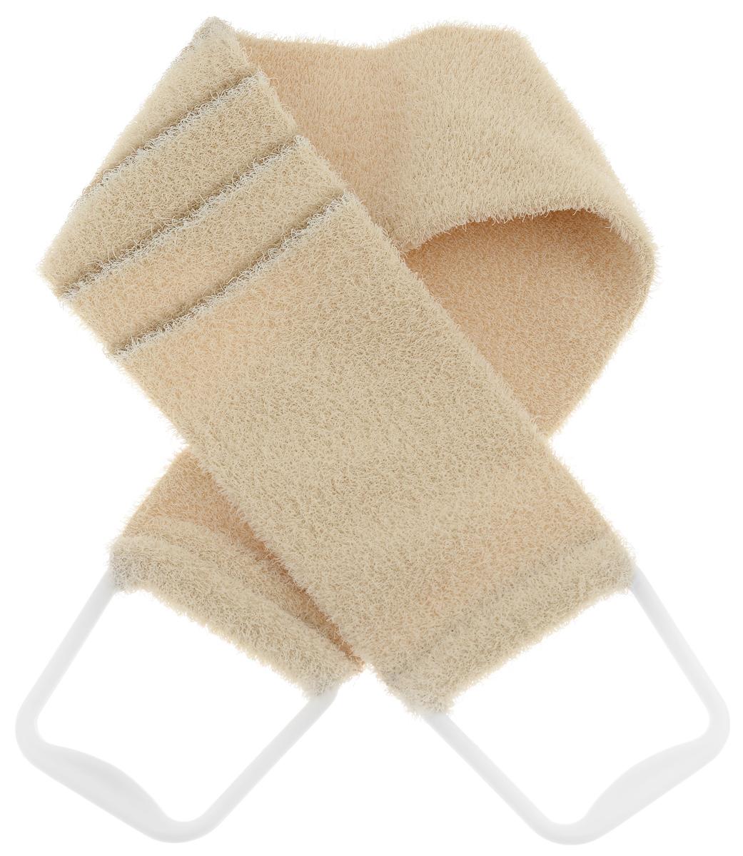 Riffi Мочалка-пояс, массажная, жесткая, цвет: бежевый. 824