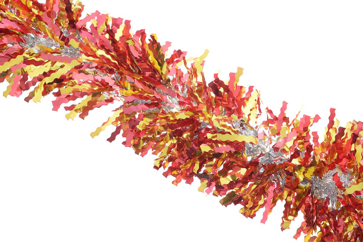 """Мишура новогодняя """"Sima-land"""", цвет: красный, золотистый, диаметр 13 см, длина 200 см. 825987"""