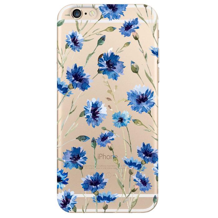 Deppa Art Case чехол для Apple iPhone 6/6s, Flowers (василек) deppa art case чехол для apple iphone 6 6s jungle колибри