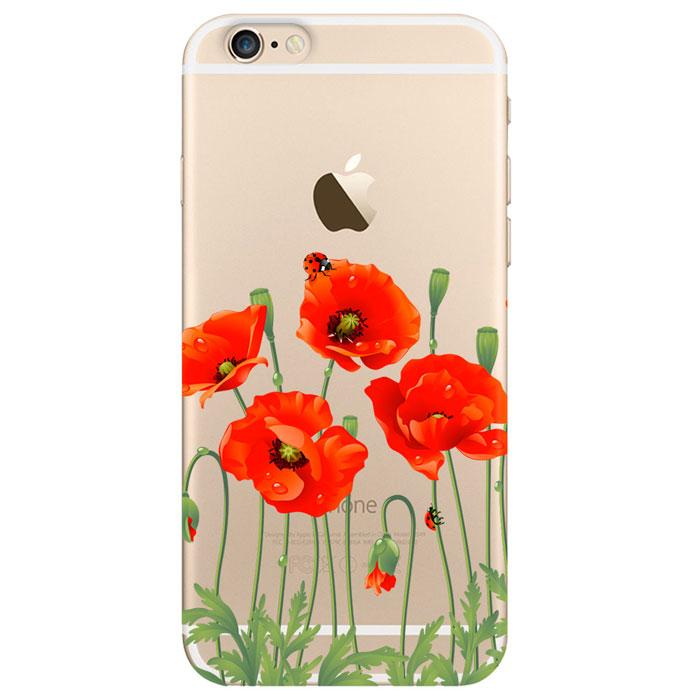 Deppa Art Case чехол для Apple iPhone 6/6s, Flowers (мак) deppa art case чехол для apple iphone 6 6s jungle колибри