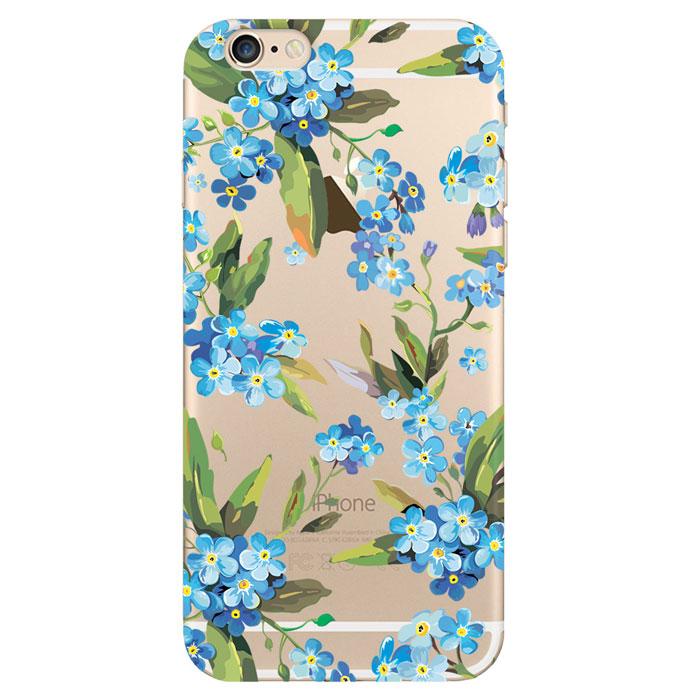 Deppa Art Case чехол для Apple iPhone 6/6s, Flowers (незабудка) deppa art case чехол для apple iphone 6 6s jungle колибри