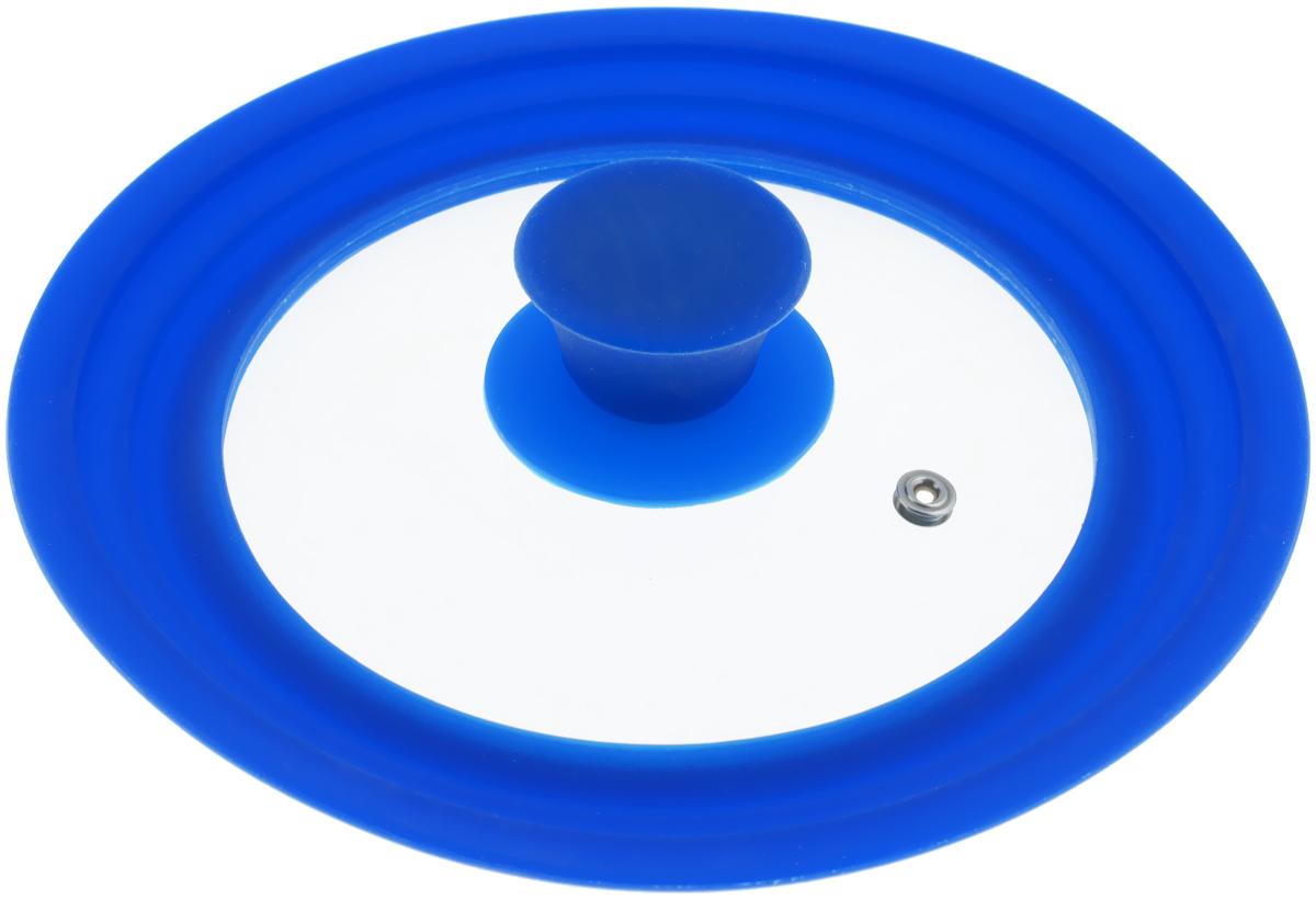 Крышка универсальная Miolla, цвет: синий, для сковород и кастрюль диаметром 16, 18, 20 см миска miolla 1001 16