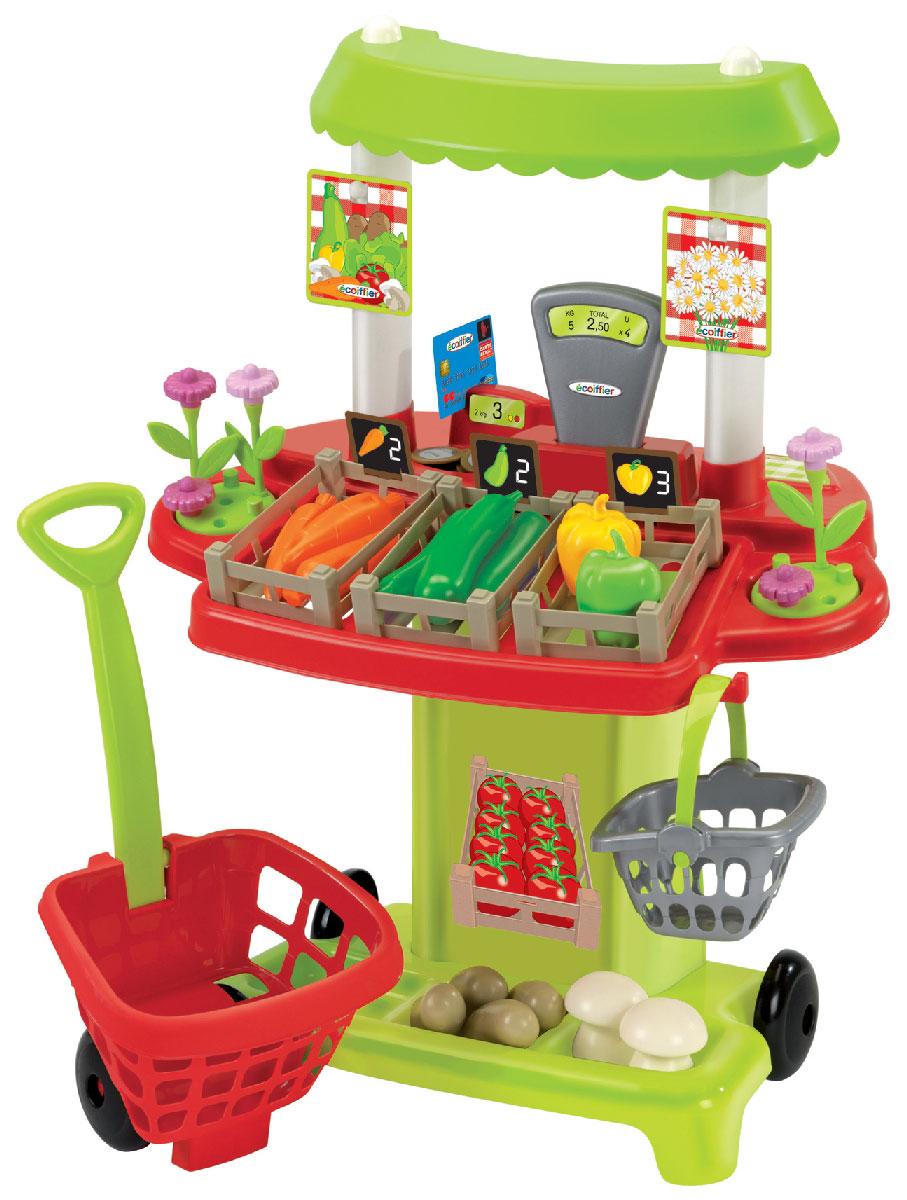 Ecoiffier Игровой набор Овощной супермаркет écoiffier игровой набор ecoiffier clean home тележка для уборки с пылесосом 10 предметов