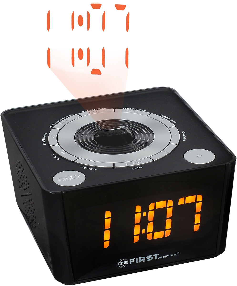 Радио-будильник First FA-2421-5 Black