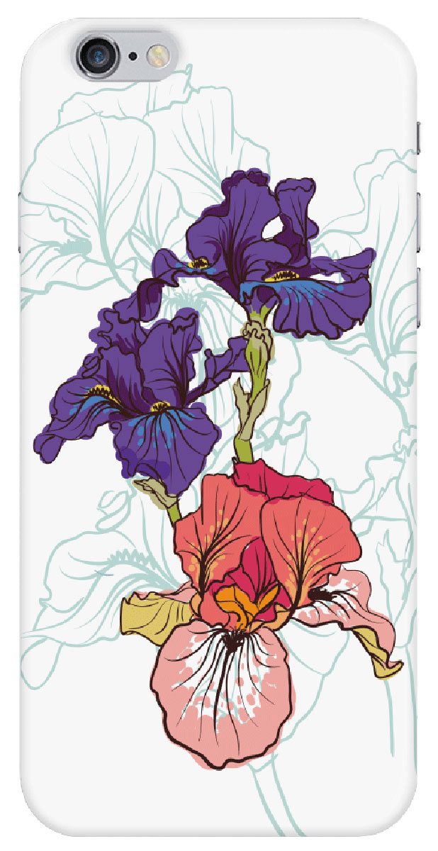 цена Deppa Art Case чехол для Apple iPhone 6/6s, Pastel (ирисы)