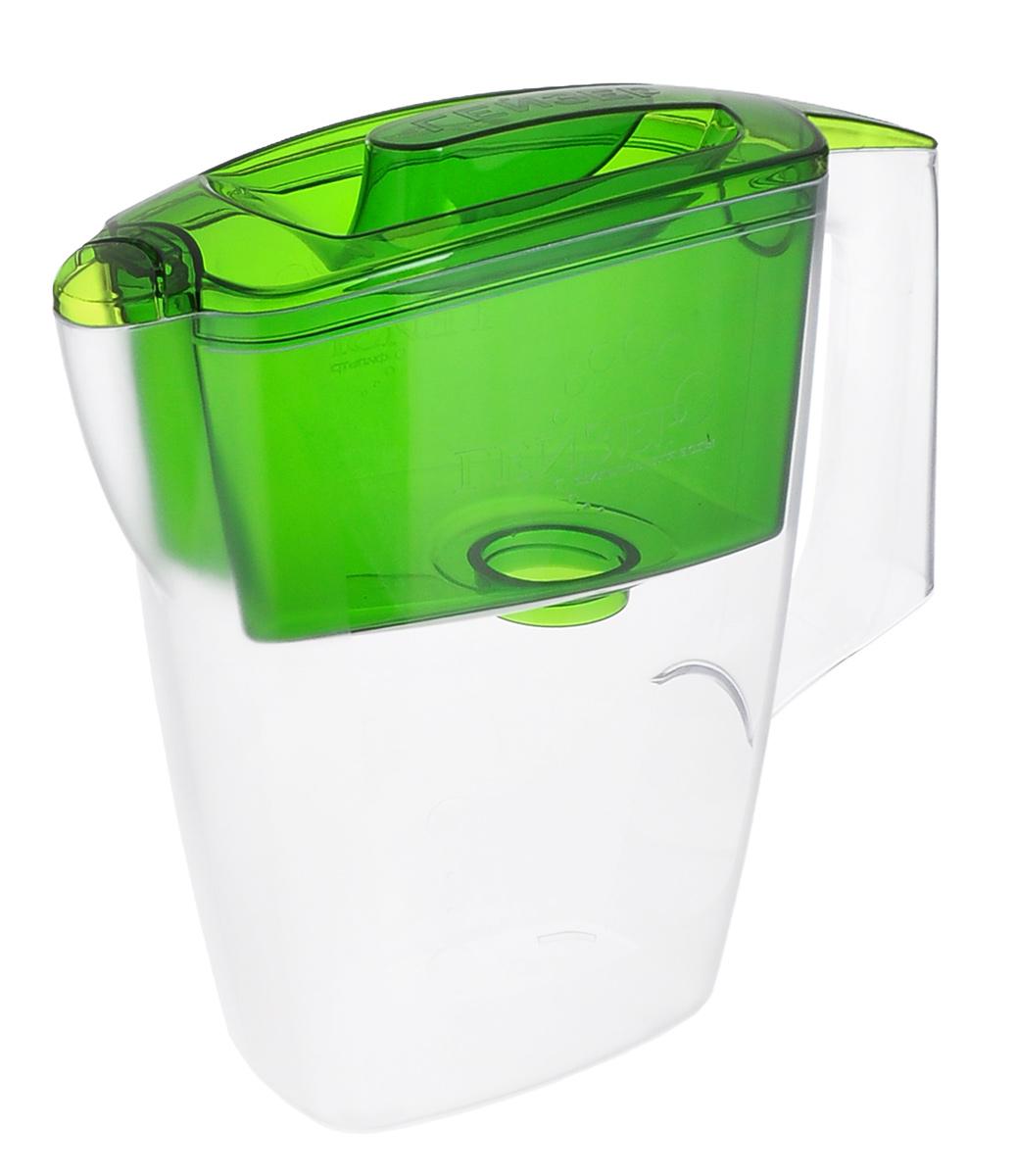 Фото - Фильтр-кувшин Гейзер Мини, с картриджем, цвет: прозрачный, зеленый, 2,5 л кувшин гейзер аквилон зеленый 3л 62042