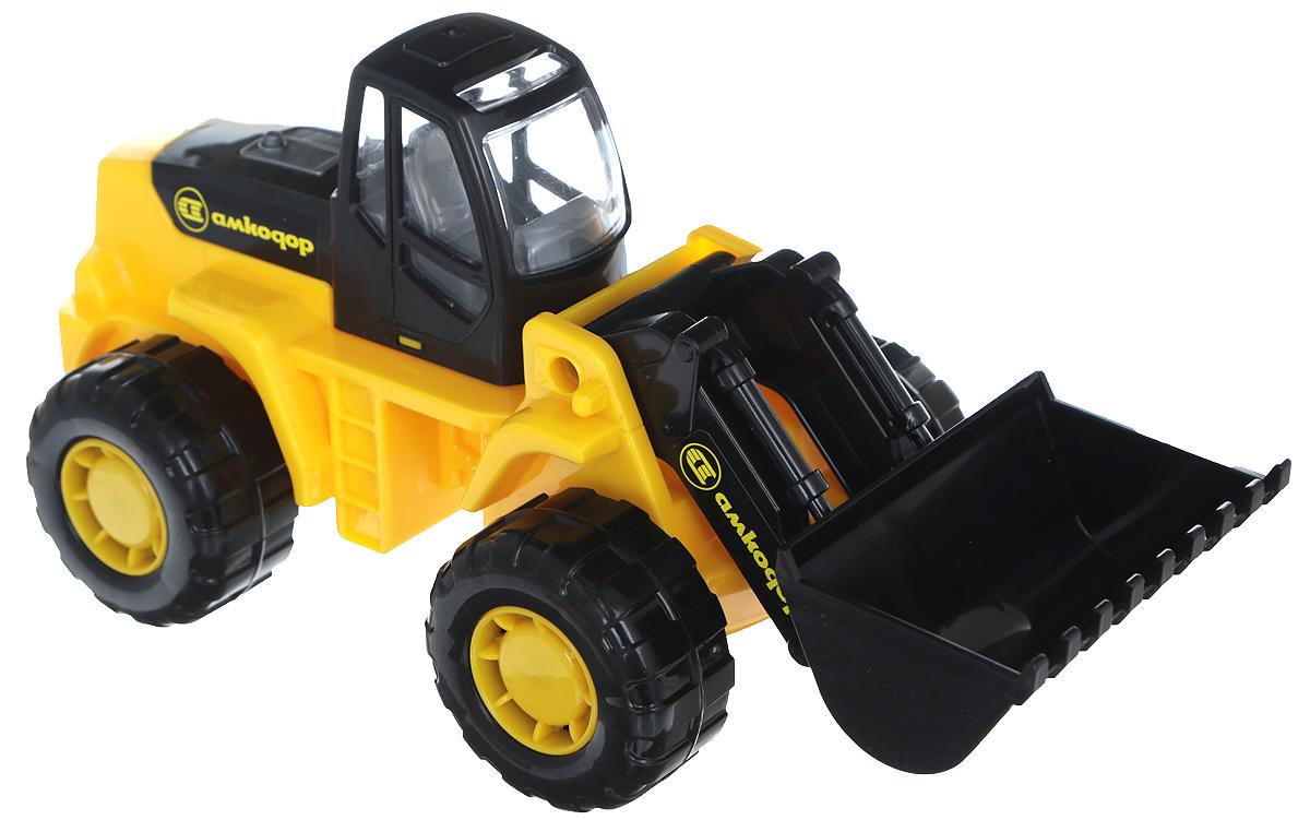 Полесье Трактор-погрузчик Умелец, цвет в ассортименте трактор полесье трактор погрузчик умелец оранжевый 159238