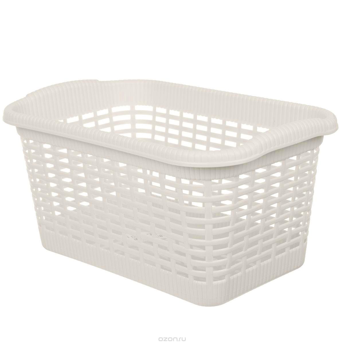 Корзина хозяйственная Gensini, цвет: светло-бежевый, 36 x 22,5 x 18 см корзина складная outwell folding basket цвет зеленый 50 x 29 x 25 см