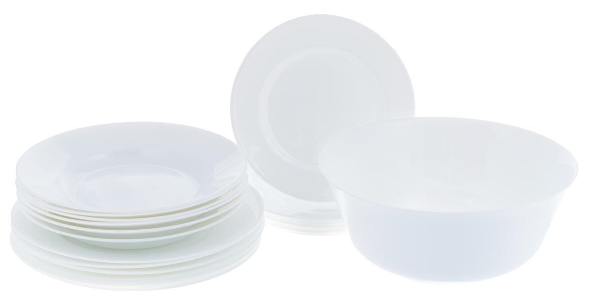 """Набор столовой посуды Luminarc """"Everyday"""", цвет: белый, 19 предметов"""