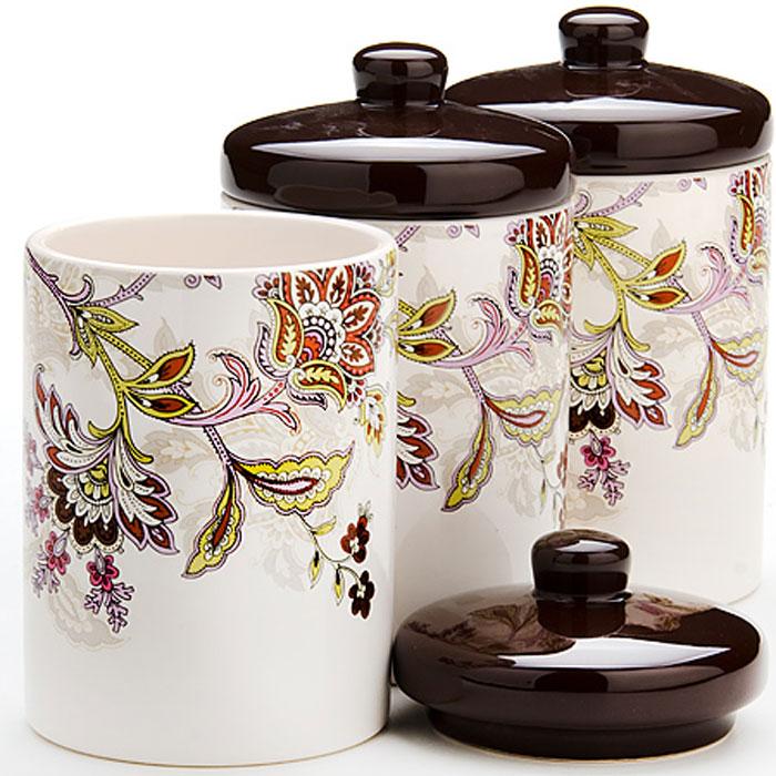 """Набор банок для сыпучих продуктов """"Loraine"""", 480 мл, 3 шт. 24845"""
