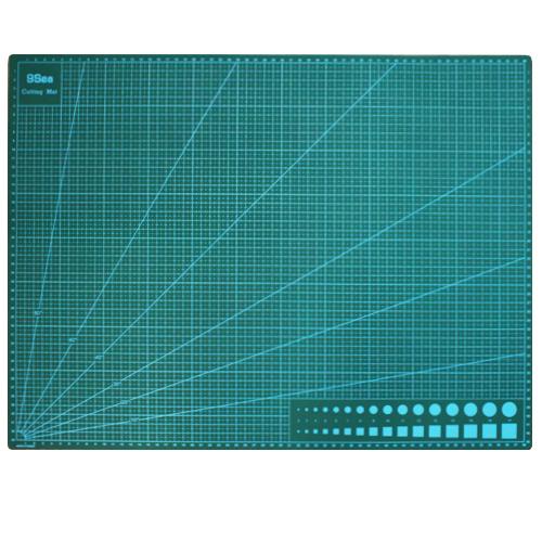 Коврик для раскройных ножей Hobby & Pro, цвет: зеленый, 60 x 45 см набор лезвий для ножей sturm 1076 s2 18