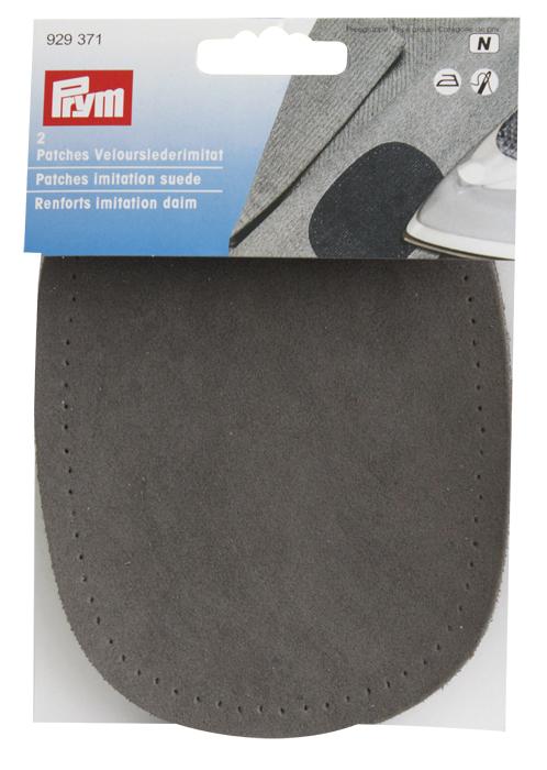 Заплатка термоклеевая Prym, цвет: серый, 2 шт заплатка для одежды 20y12708 20pcs lot 88 75