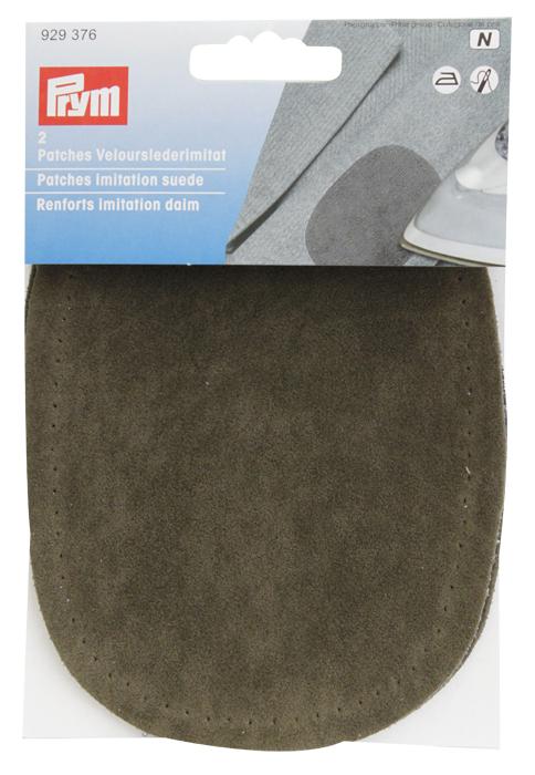 Заплатка термоклеевая Prym, цвет: оливковый, 2 шт заплатка для одежды 20y12708 20pcs lot 88 75