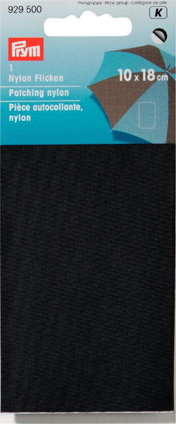Заплатка нейлоновая Prym, самоклеящаяся, цвет: черный, 18 x 10 см. 342587 заплатка для одежды 20y12708 20pcs lot 88 75
