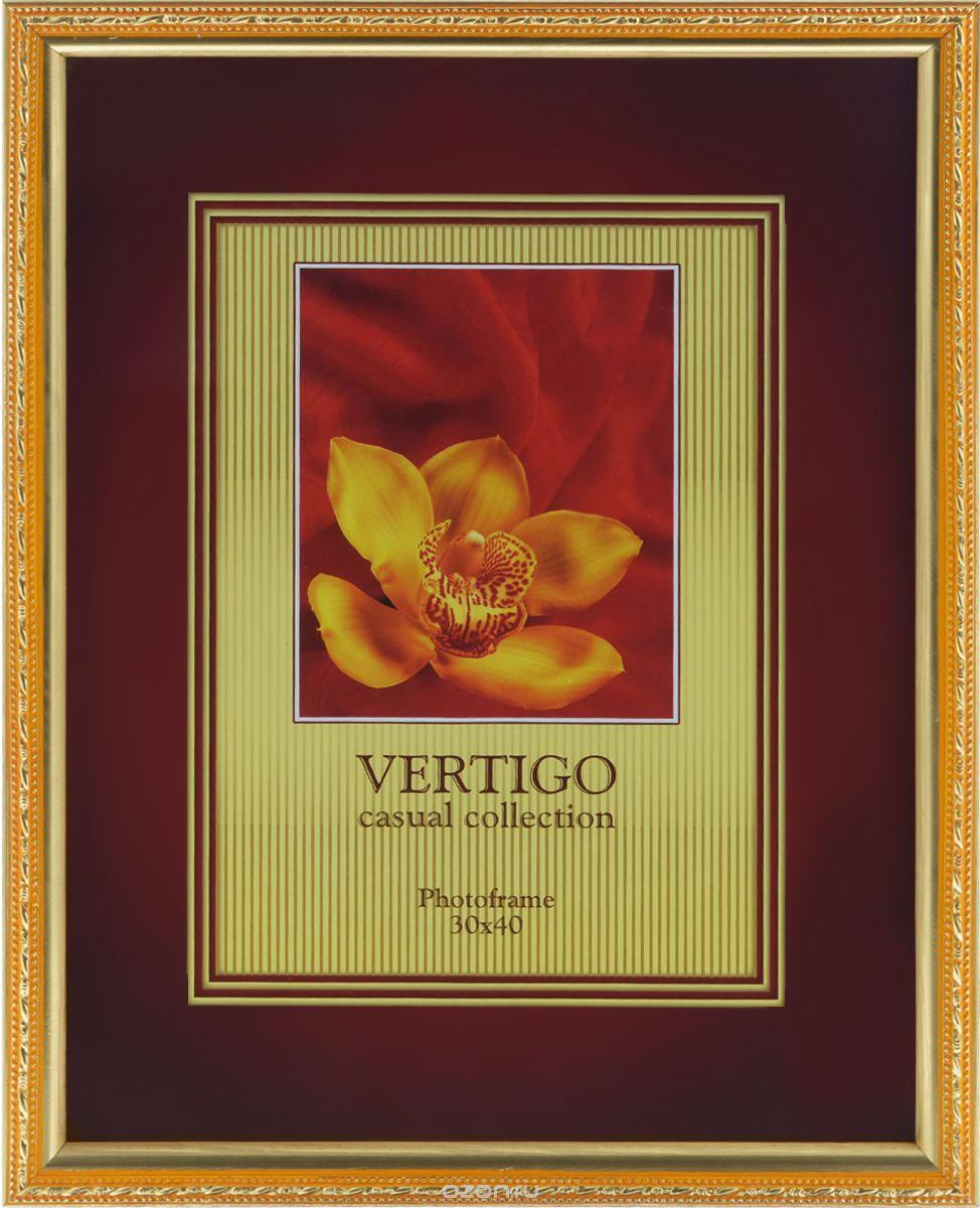 Фоторамка Vertigo Molise, цвет: золотистый, 21 х 30 см vertigo брюки белые узкие vertigo
