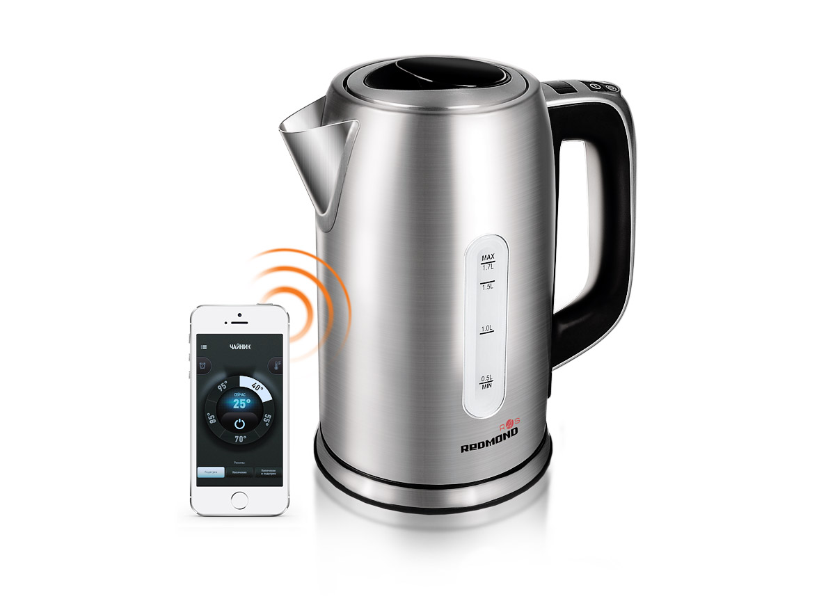 цена на Redmond SkyKettle RK-M171S, Metallic умный электрический чайник