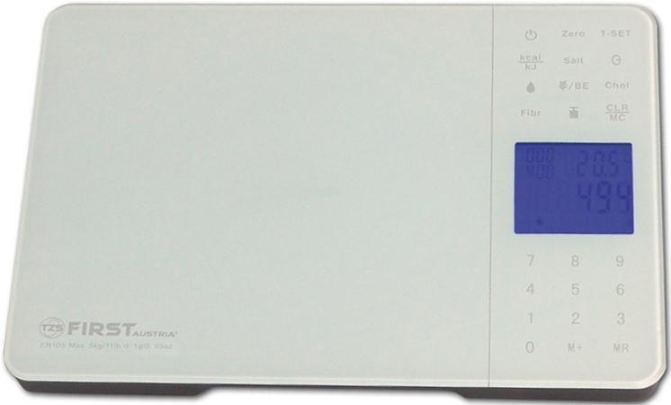 Кухонные весы First FA-6407-1 White кухонные весы saturn st ks7235 white