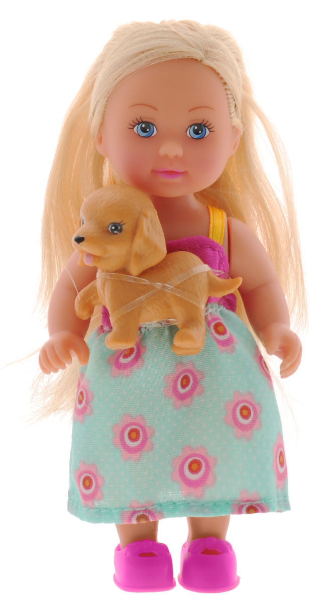 Simba Мини-кукла Еви с собачкой кукла еви со стильной собачкой