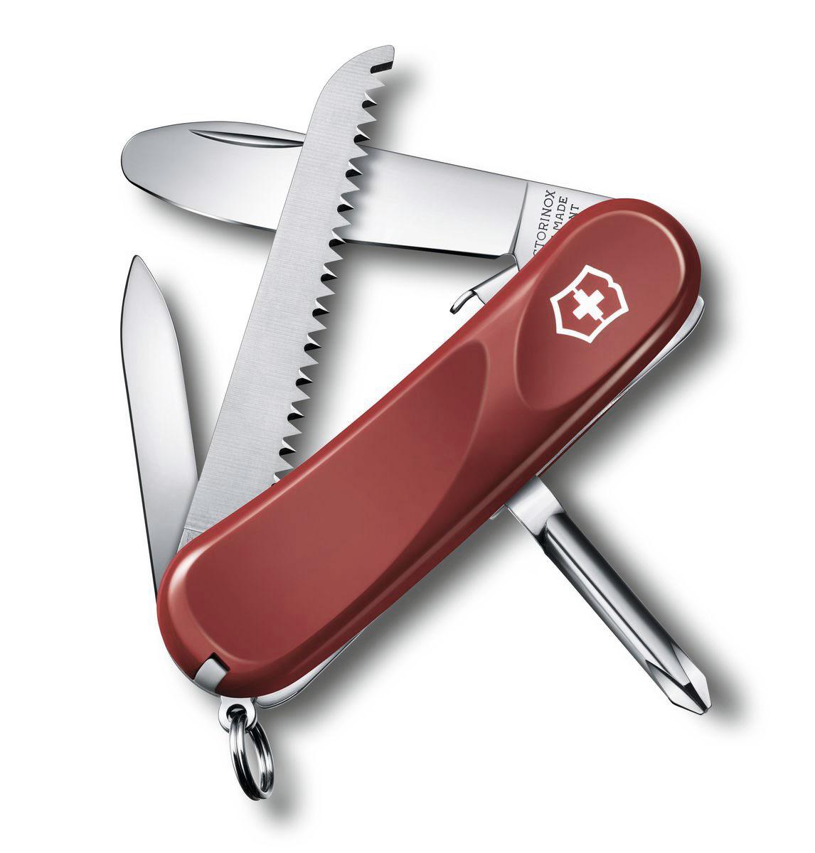 """Нож перочинный Victorinox """"Junior"""", цвет: красный, 8 функций, 8,5 см"""