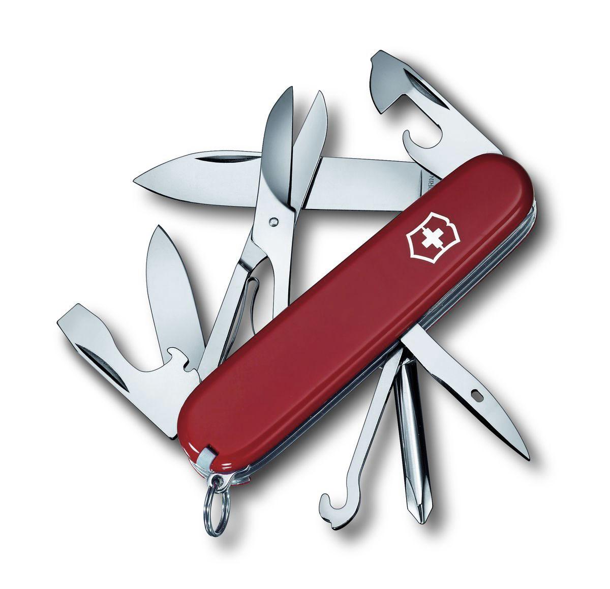 Нож перочинный Victorinox Super Tinker, цвет: красный, 14 функций, 9,1 см