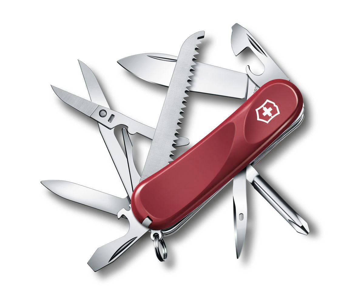 """Нож перочинный Victorinox """"Evolution 18"""", цвет: красный, 15 функций, 8,5 см"""