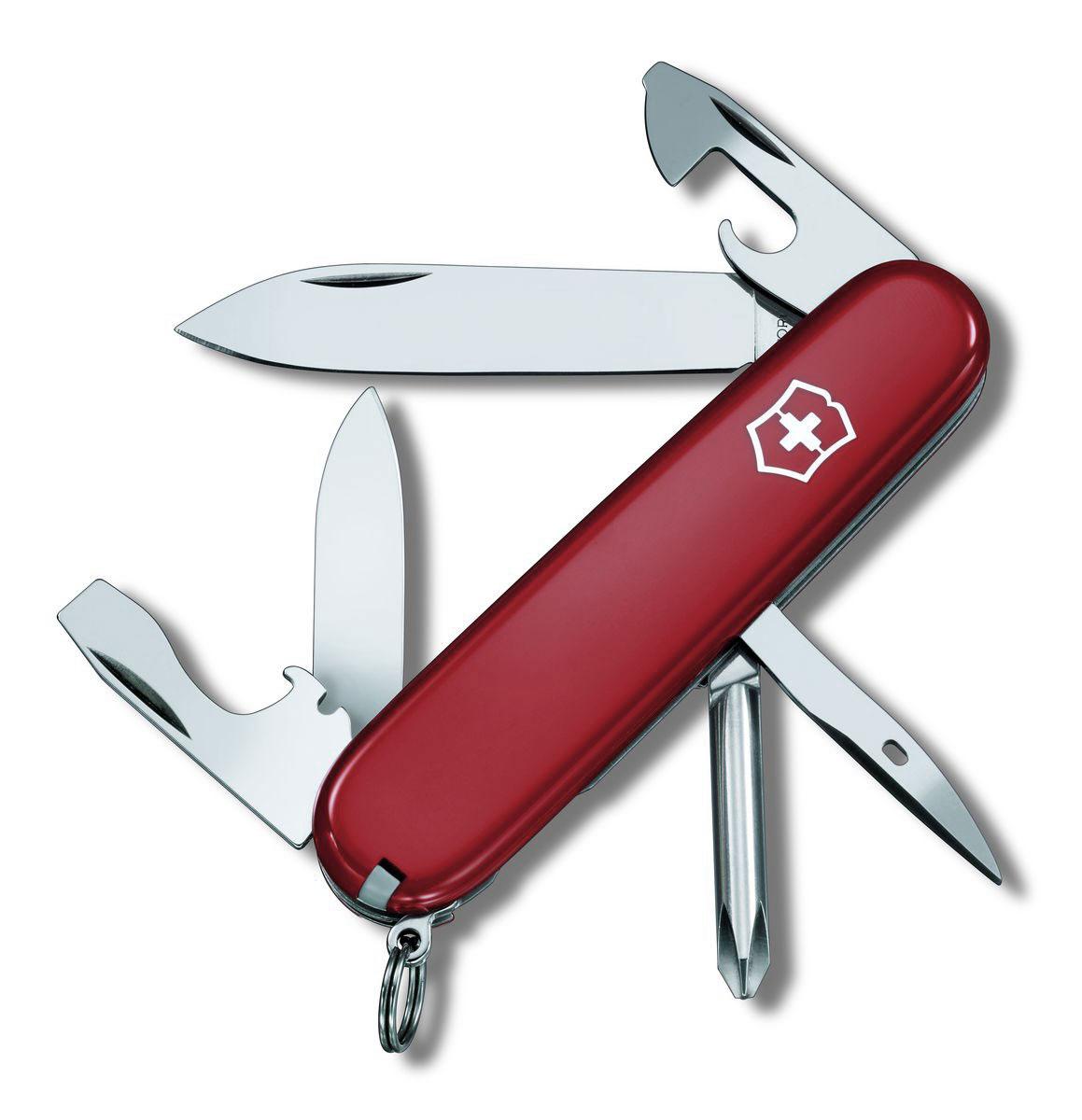 Нож перочинный Victorinox Tinker, цвет: красный, 12 функций, 9,1 см