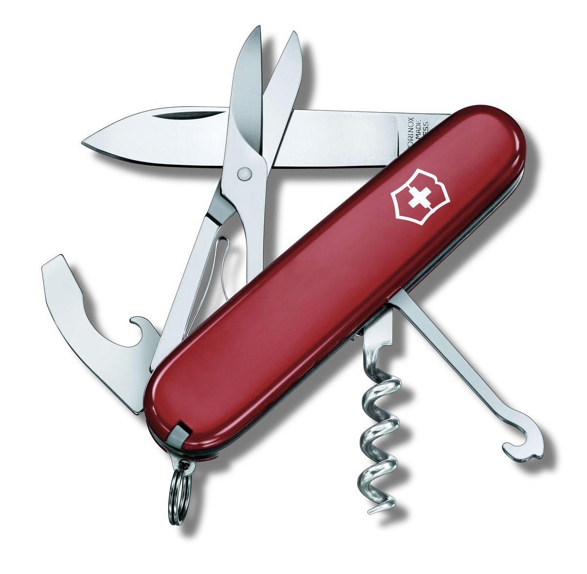 """Нож перочинный Victorinox """"Compact"""", цвет: красный, 15 функций, 9,1 см"""