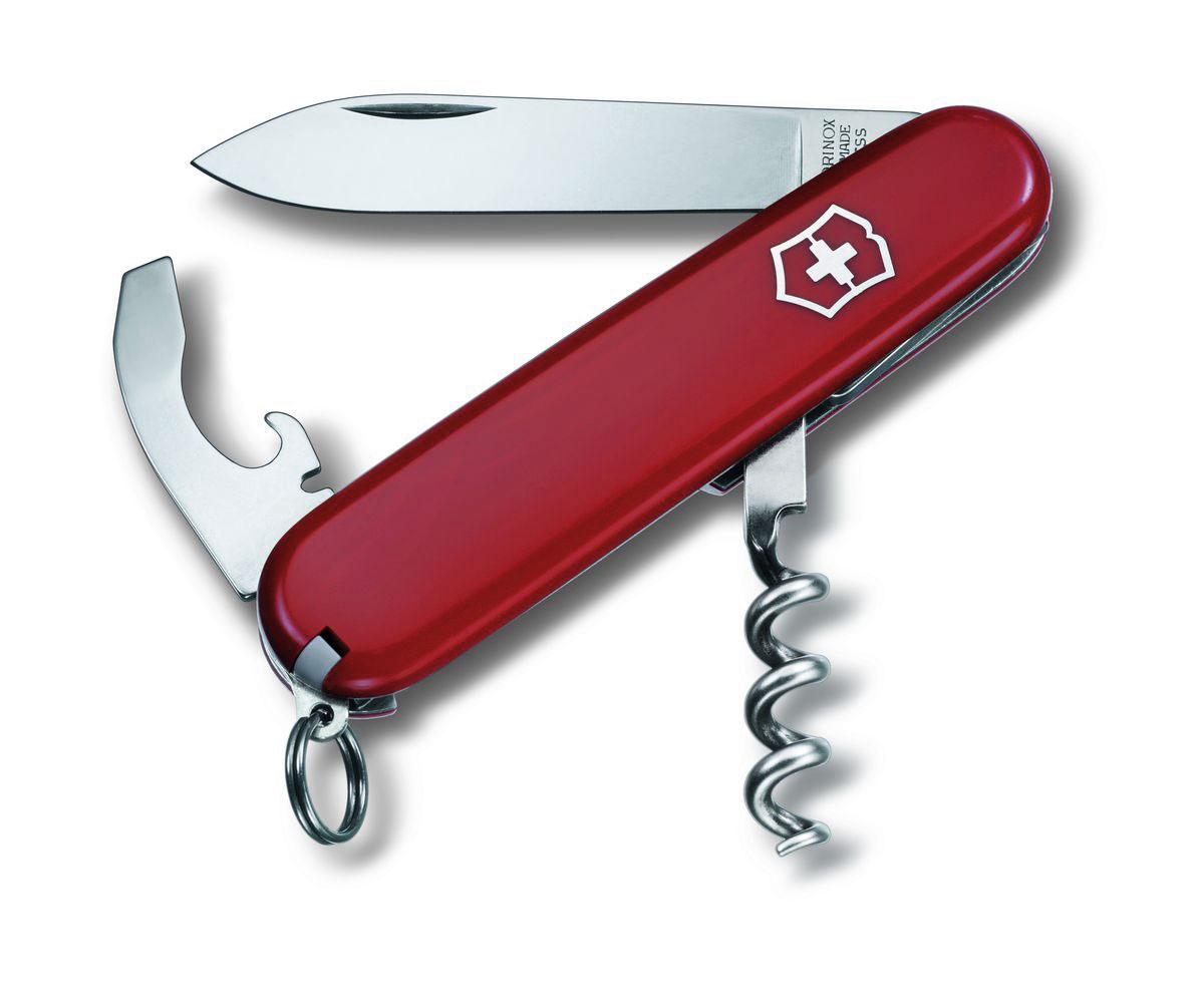 """Нож перочинный Victorinox """"Waiter"""", цвет: красный, 9 функций, 8,4 см"""