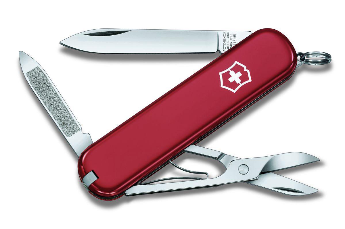 """Нож перочинный Victorinox """"Ambassador"""", цвет: красный, 7 функций, 7,4 см"""