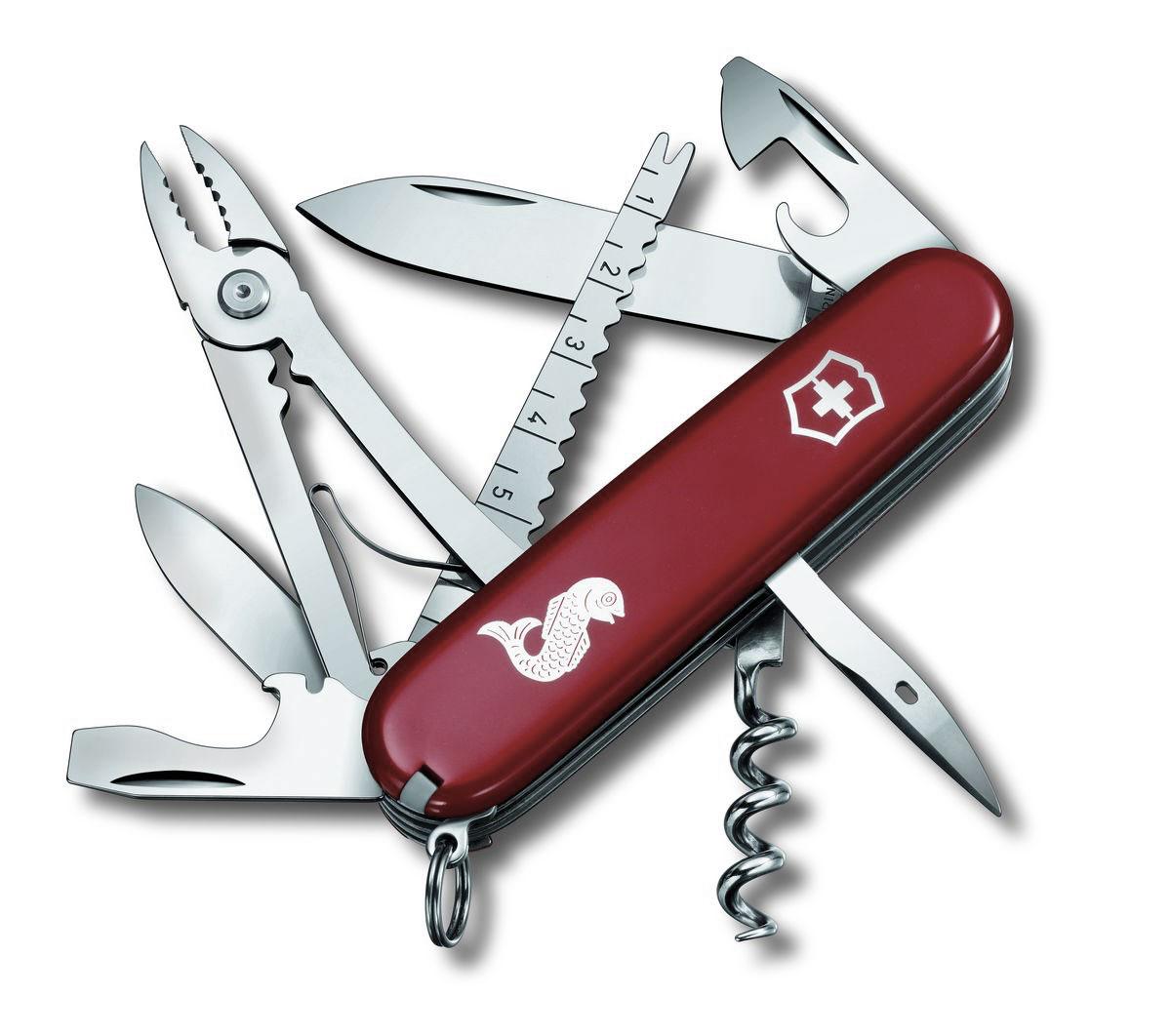 """Нож перочинный Victorinox """"Angler"""", цвет: красный, 19 функций, 9,1 см"""