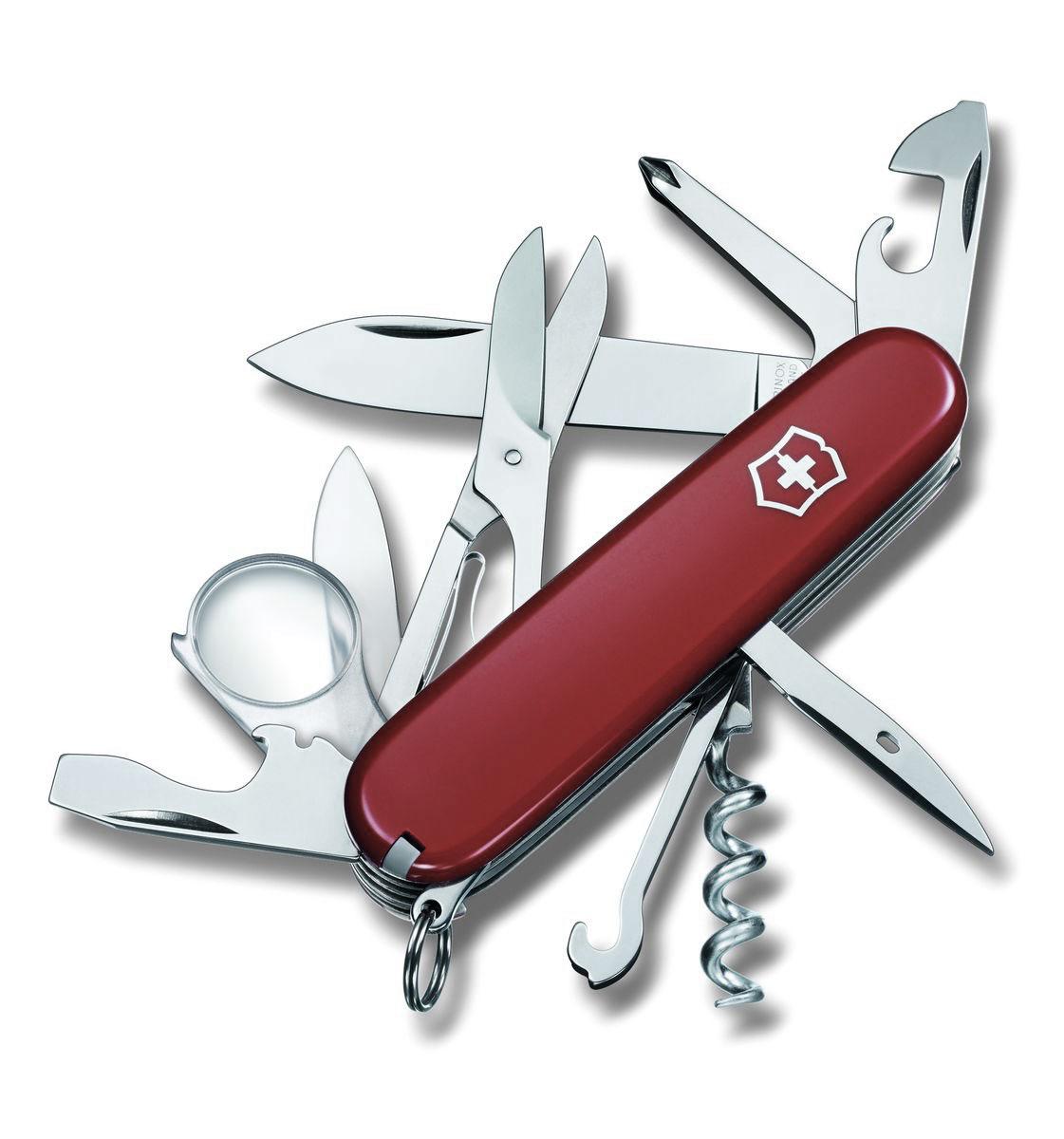 """Нож перочинный Victorinox """"Explorer"""", цвет: красный, 16 функций, 9,1 см"""