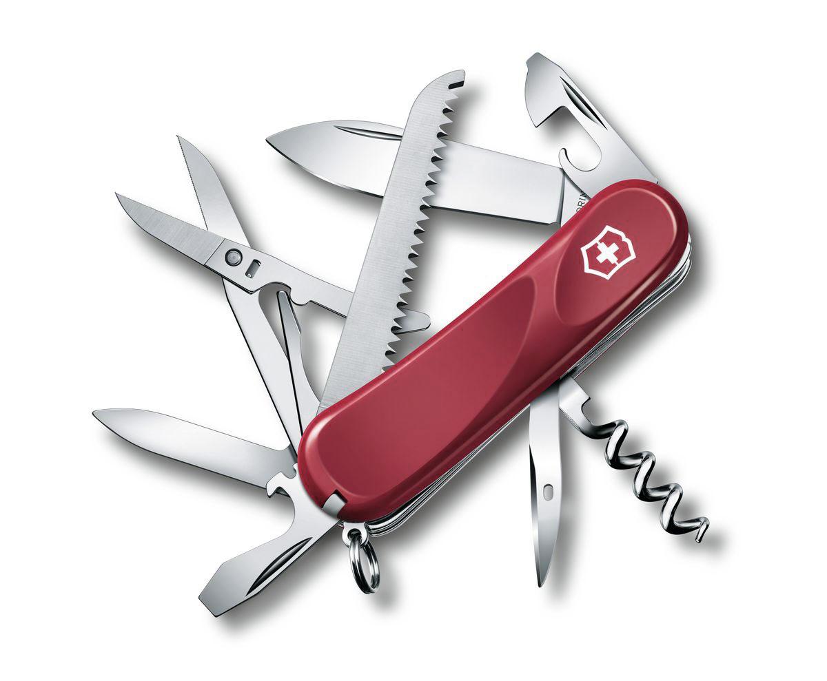 """Нож перочинный Victorinox """"Evolution 17"""", цвет: красный, 15 функций, 8,5 см"""