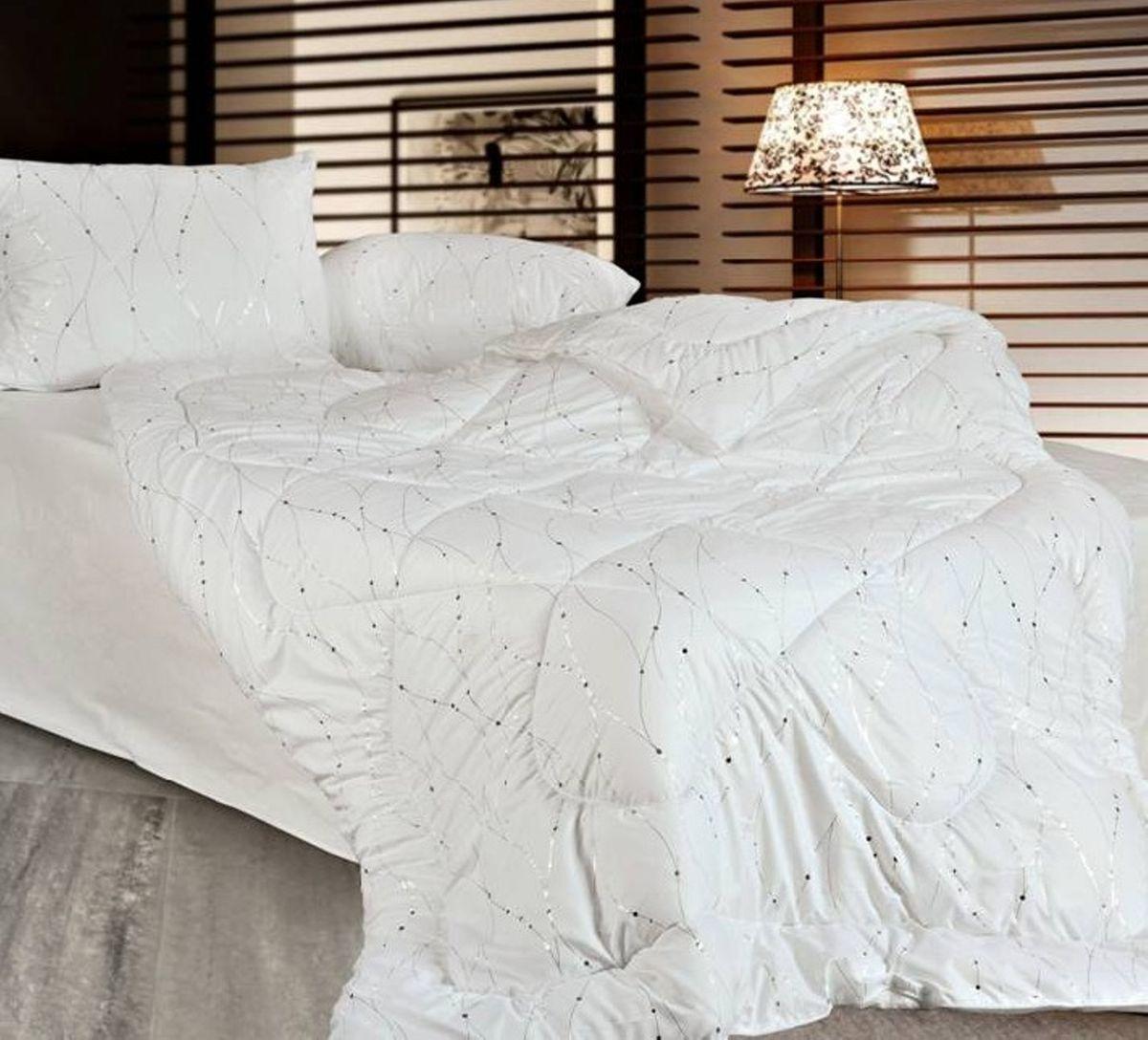 Подушка Home & Style, наполнитель: соевое волокно, 70 х 70 см подушка green line лен наполнитель льняное волокно 70 х 70 см