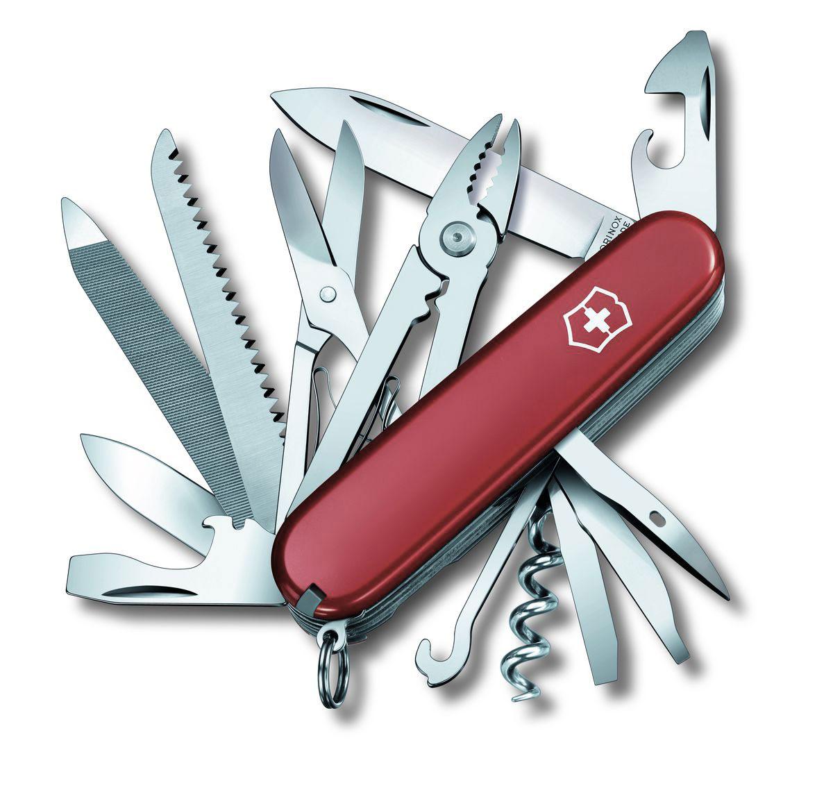 """Нож перочинный Victorinox """"Handyman"""", цвет: красный, 24 функции, 9,1 см"""