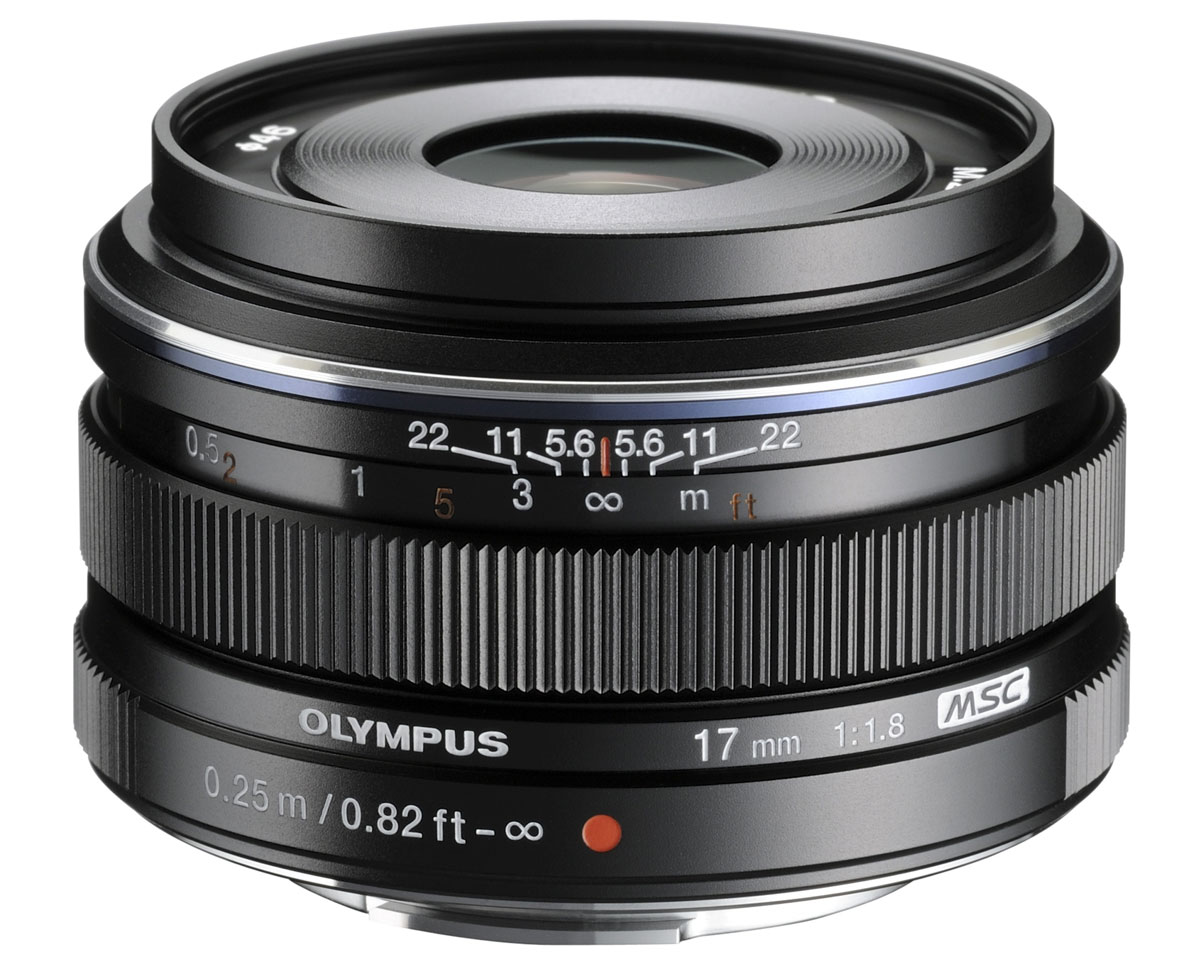 Объектив Olympus M.Zuiko Digital 17mm f/1.8, Black цена и фото