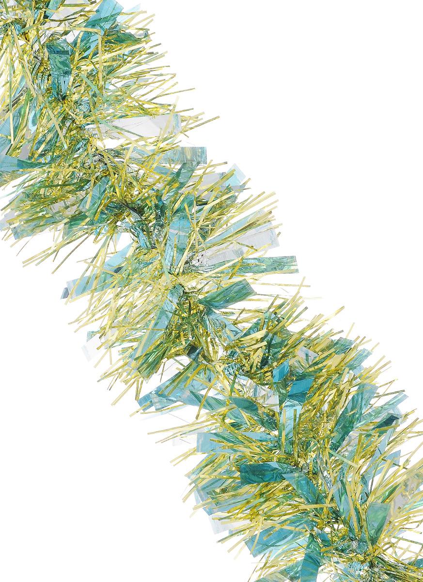 Мишура новогодняя Sima-land, цвет: серебристый, золотистый, голубой, диаметр 9 см, длина 200 см. 702581 мишура новогодняя sima land цвет золотистый диаметр 10 см длина 160 см 623233