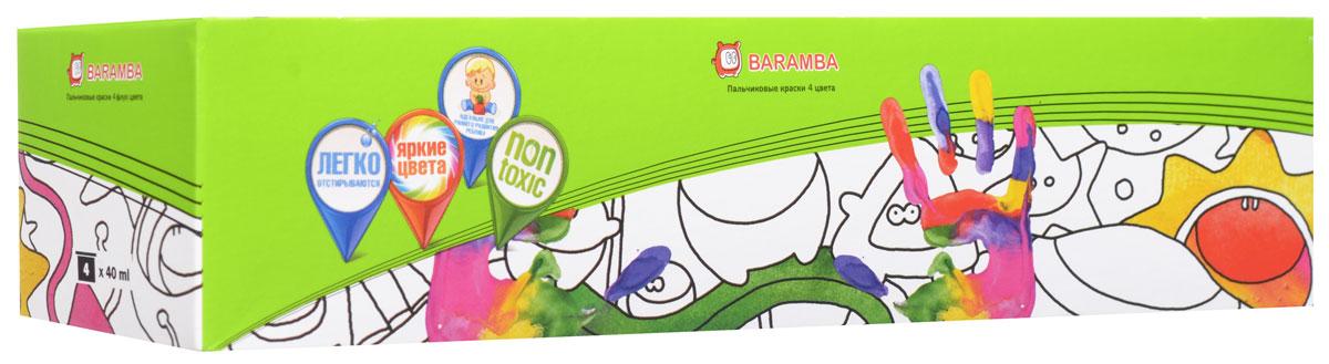 Краски пальчиковые Baramba, 4 цвета. B00530 краски пальчиковые baramba 4 цвета b00530
