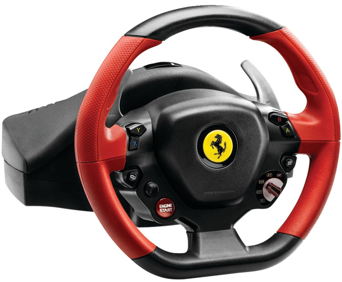 Thrustmaster Ferrari 458 Spider Racing Wheel, Black Red руль ferrari 458