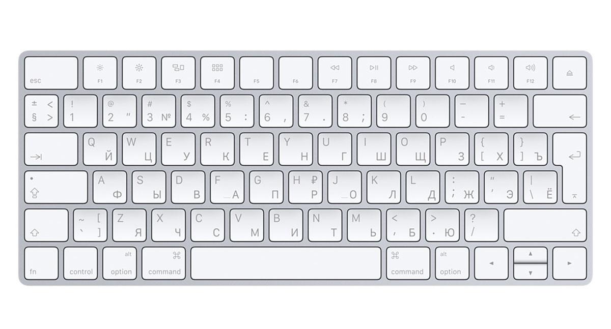 Клавиатура Apple Magic Keyboard (MLA22RU/A) клавиатура apple magic keyboard 2 bluetooth беспроводная серебристый [mla22ru a]
