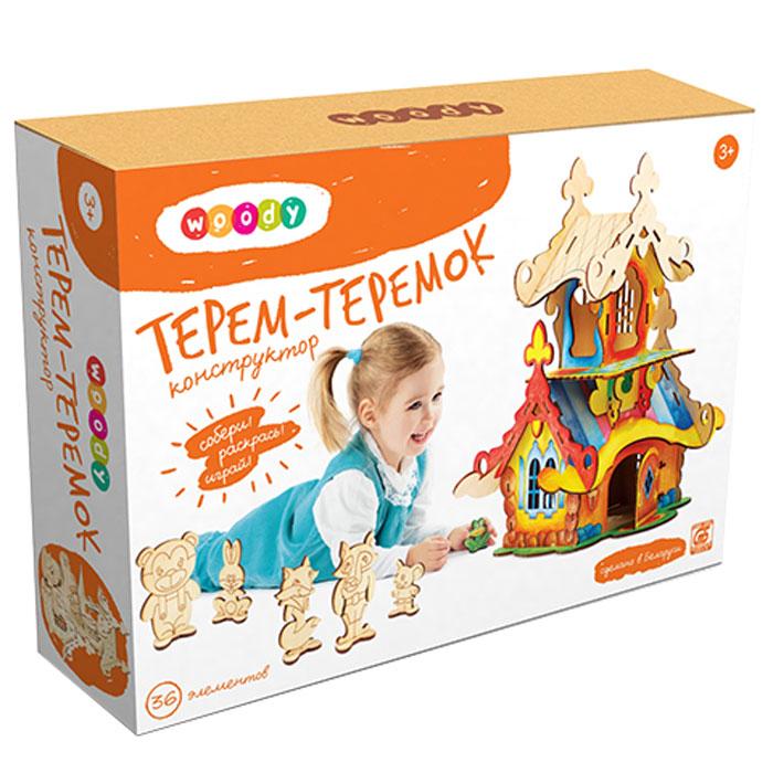 Woody Конструктор Терем-теремок woody игрушка конструктор терем теремок о0150