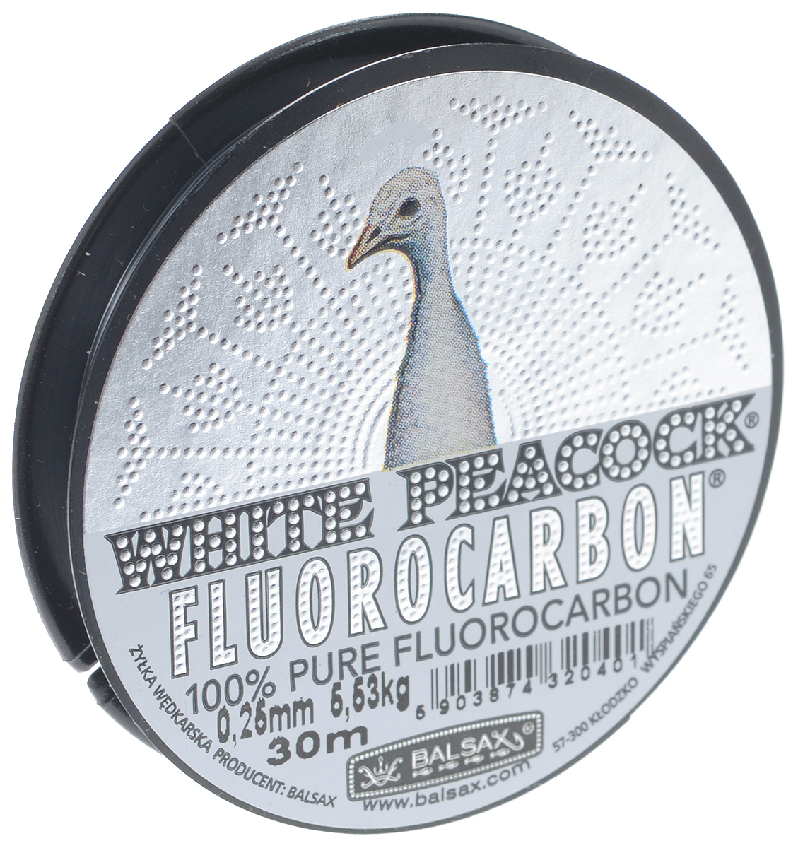 "Леска Balsax ""White Peacock Fluorocarbon"", сечение 0,25 мм, длина 30 м"