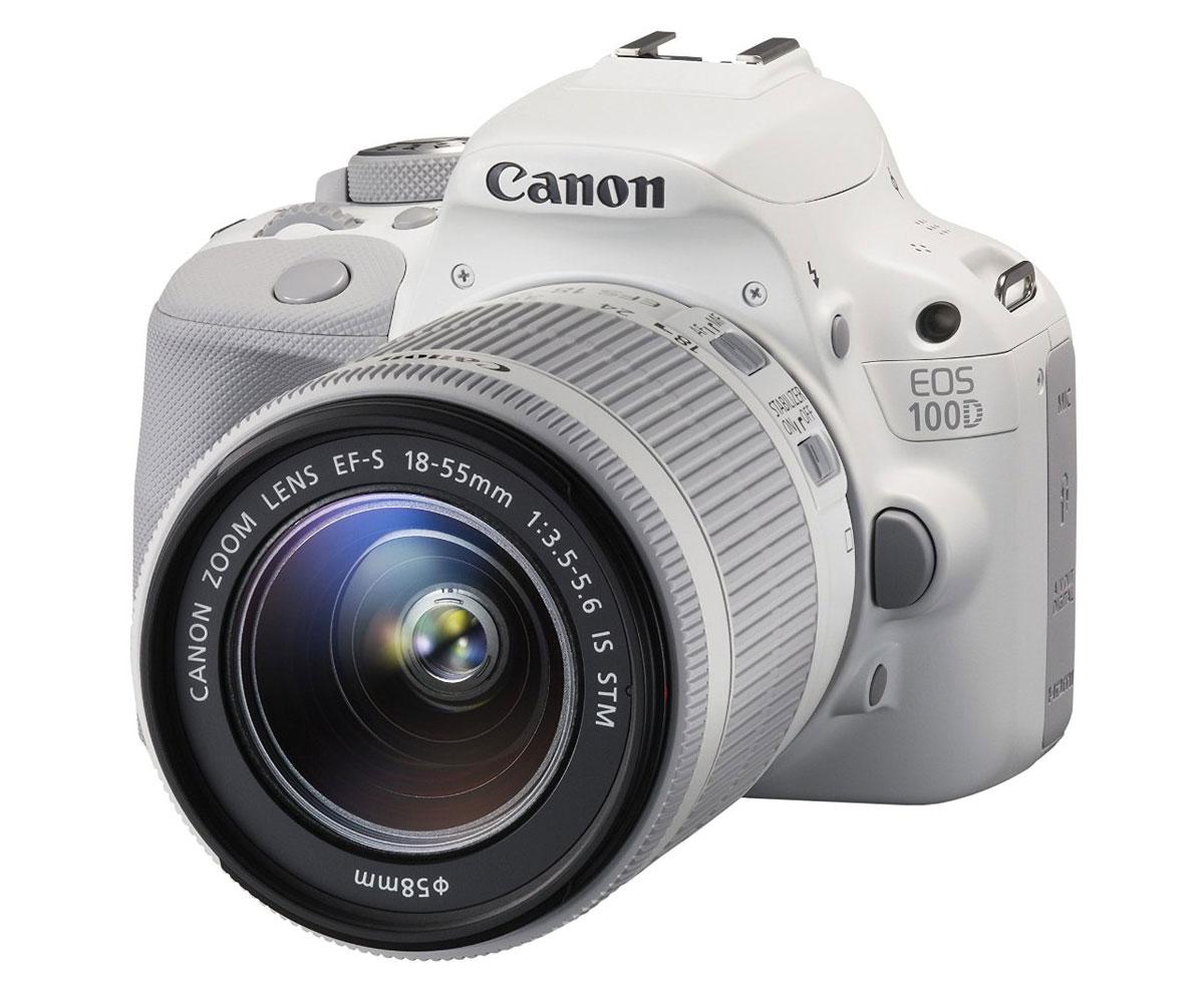 Зеркальный фотоаппарат Canon EOS 100D Kit 18-55 IS STM, White